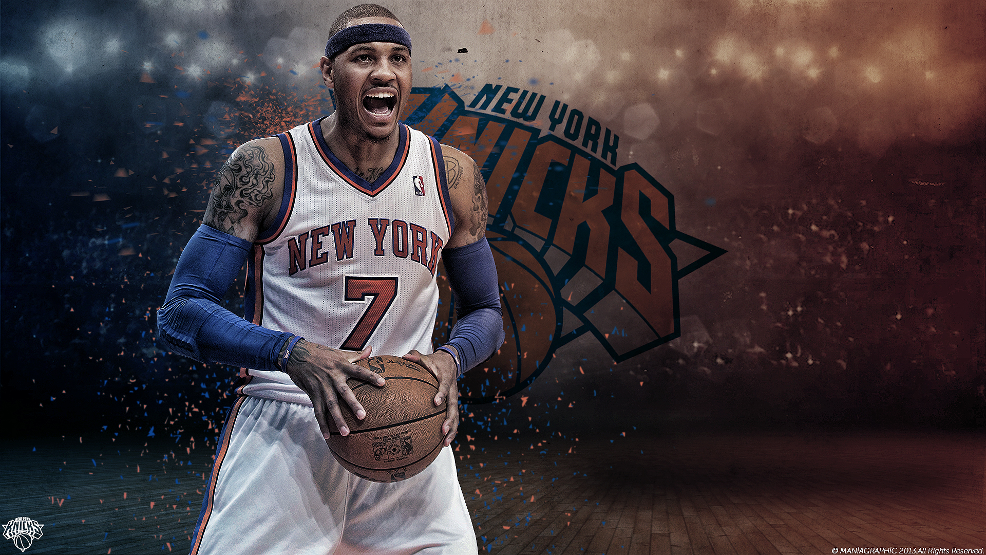 Carmelo anthony hd wallpapers for desktop download carmelo anthony wallpapers widescreen voltagebd Images