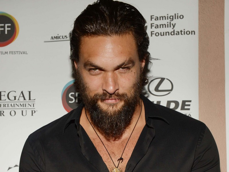 SARASOTA, FL - APRIL 12:  Actor /director Jason Momoa arrives to a screening of 'Road to Paloma' during the Sarasota Film Festival at Regal Cinemas Hollywood Stadium on April 12, 2014 in Sarasota, Florida.  (Photo by Gustavo Caballero/Getty Images for 2014 Sarasota Film Festival)